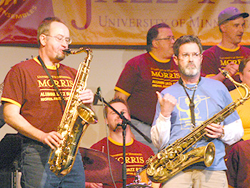 Marty playing for UMM Alumni Band