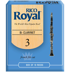 Rico Royal Clarinet Reeds 10 in the box