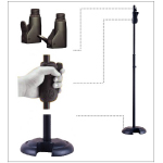 Hercules MS201B Straight Mic Stand with quick-release for mic clip